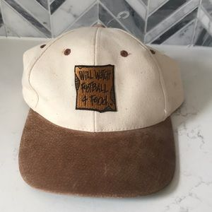 Vintage leather dad skate cap